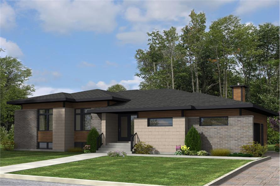 3-Bedroom, 1438 Sq Ft Contemporary Home Plan - 158-1276 - Main Exterior