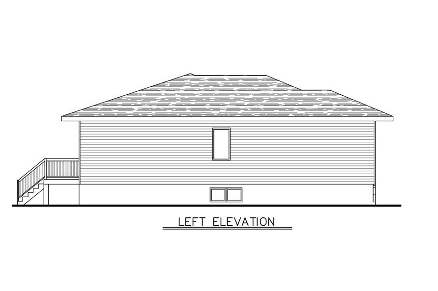 158-1277: Home Plan Left Elevation