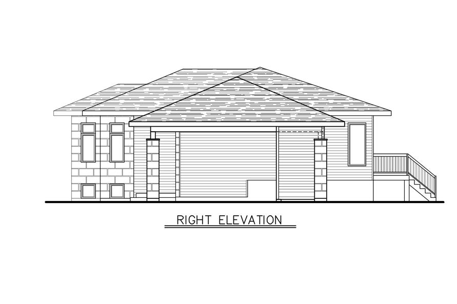 158-1277: Home Plan Right Elevation