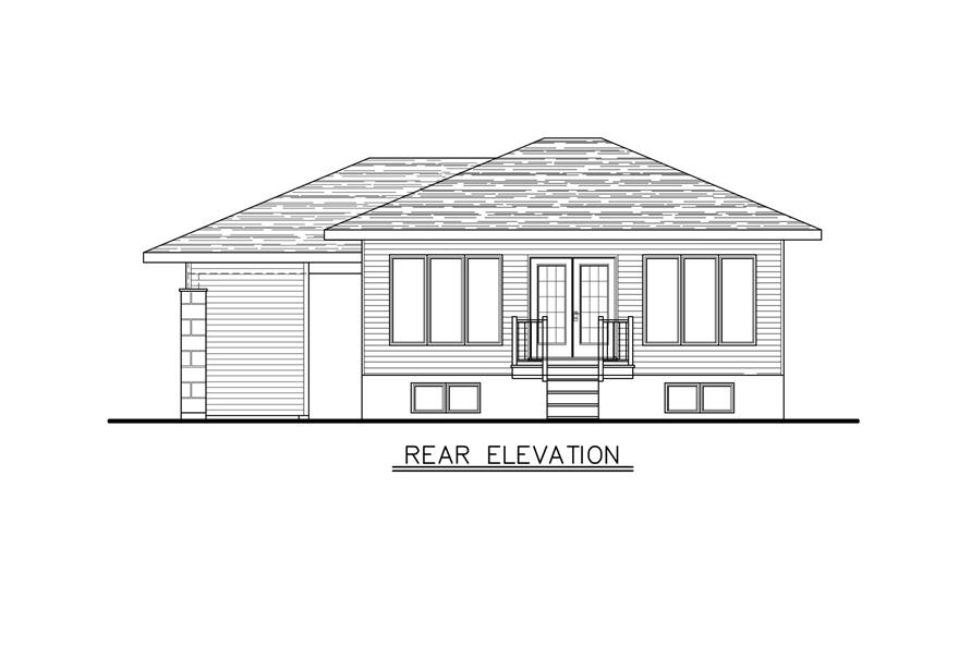 158-1277: Home Plan Rear Elevation