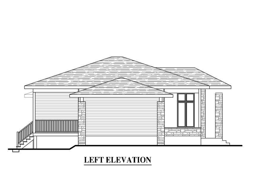 158-1279: Home Plan Left Elevation