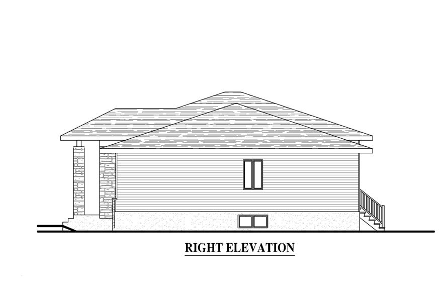 158-1279: Home Plan Right Elevation