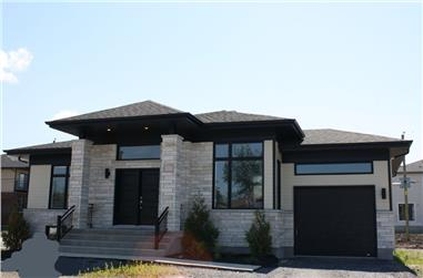 3-Bedroom, 1223 Sq Ft Contemporary Home Plan - 158-1279 - Main Exterior