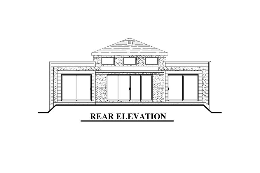 158-1281: Home Plan Rear Elevation