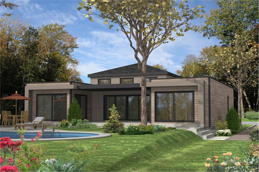 2-Bedroom, 1236 Sq Ft Contemporary Home Plan - 158-1281 - Main Exterior