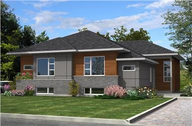 6-Bedroom, 3318 Sq Ft Contemporary House Plan - 158-1283 - Front Exterior