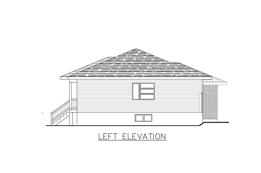158-1284: Home Plan Left Elevation