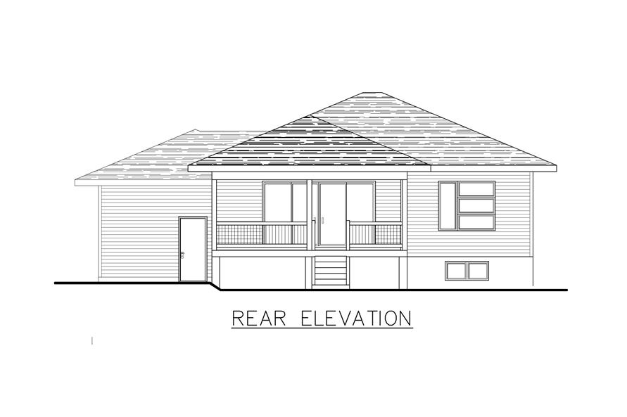 158-1284: Home Plan Rear Elevation