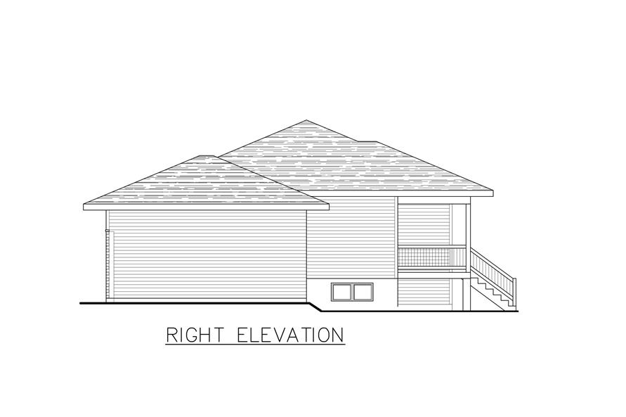 158-1284: Home Plan Right Elevation