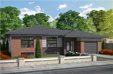 2-Bedroom, 1013 Sq Ft Contemporary House Plan - 158-1284 - Front Exterior
