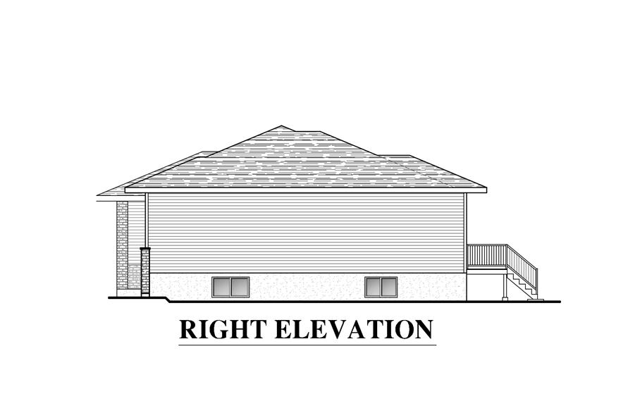 158-1285: Home Plan Right Elevation