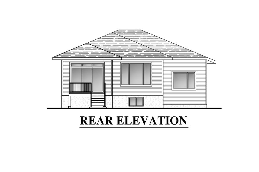 158-1285: Home Plan Rear Elevation