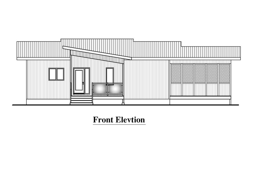 158-1289: Home Plan Front Elevation