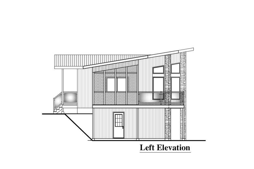 Home Plan Left Elevation of this 3-Bedroom,1697 Sq Ft Plan -158-1289