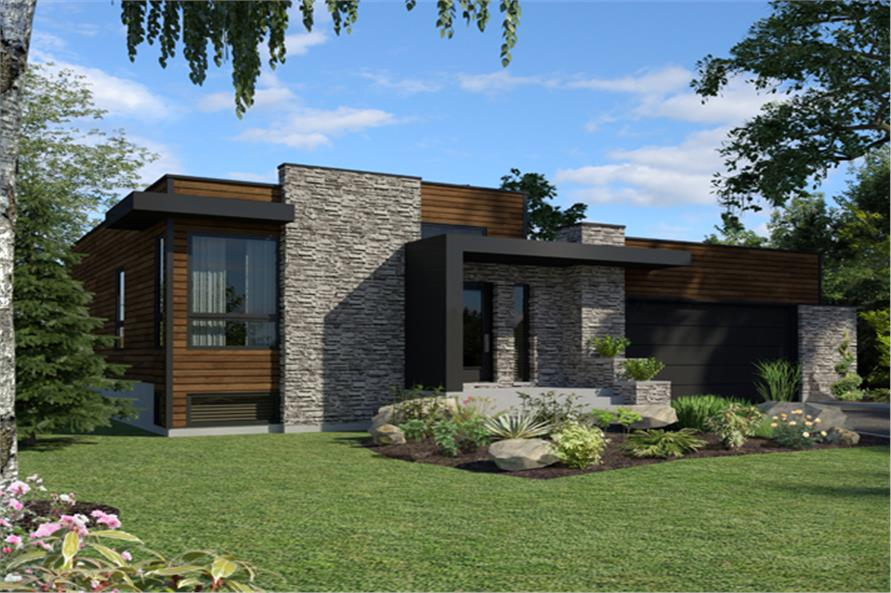 Modern house plan 158 1290 2 bedrm 1277 sq ft home for Modern house design us