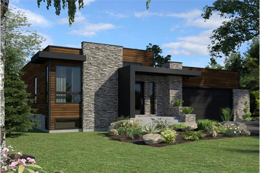 2-Bedroom, 1277 Sq Ft Modern Home - Plan #158-1290 - Main Exterior