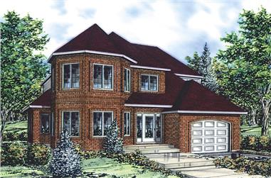 3-Bedroom, 2008 Sq Ft Cottage House Plan - 158-1292 - Front Exterior