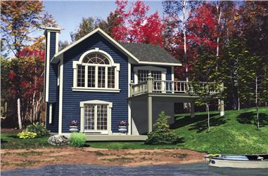 3-Bedroom, 1072 Sq Ft Bungalow Home Plan - 158-1294 - Main Exterior