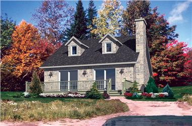 3-Bedroom, 1258 Sq Ft Cottage Home Plan - 158-1295 - Main Exterior