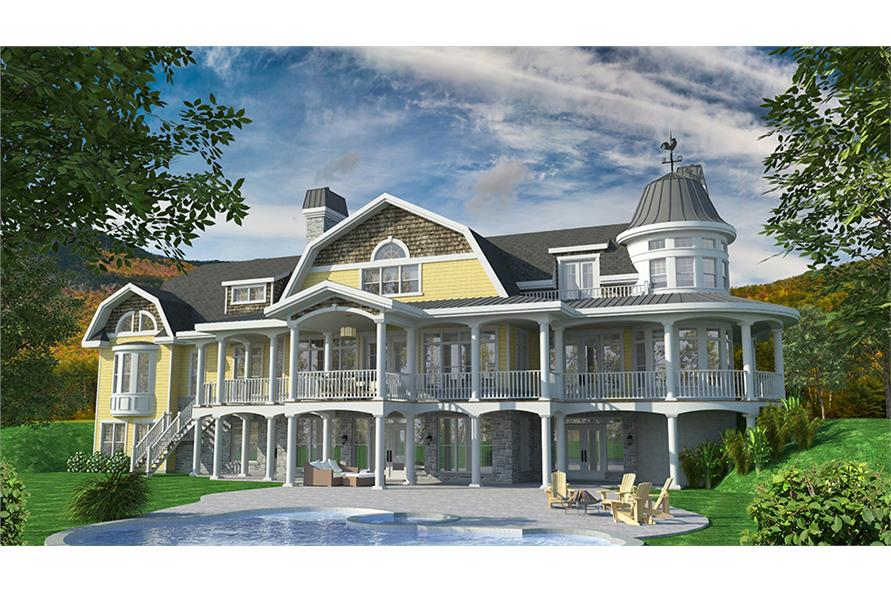 Rear View of this 6-Bedroom,8277 Sq Ft Plan -8277