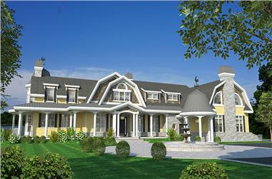 Front elevation of Cottage home (ThePlanCollection: House Plan #158-1296)