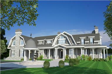 4-Bedroom, 4535 Sq Ft Cottage Home - Plan #158-1297 - Main Exterior