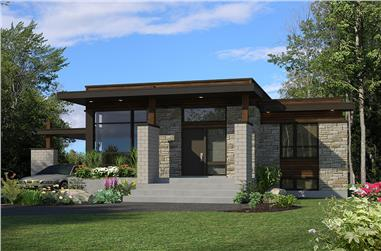 3-Bedroom, 1180 Sq Ft Bungalow House Plan - 158-1298 - Front Exterior