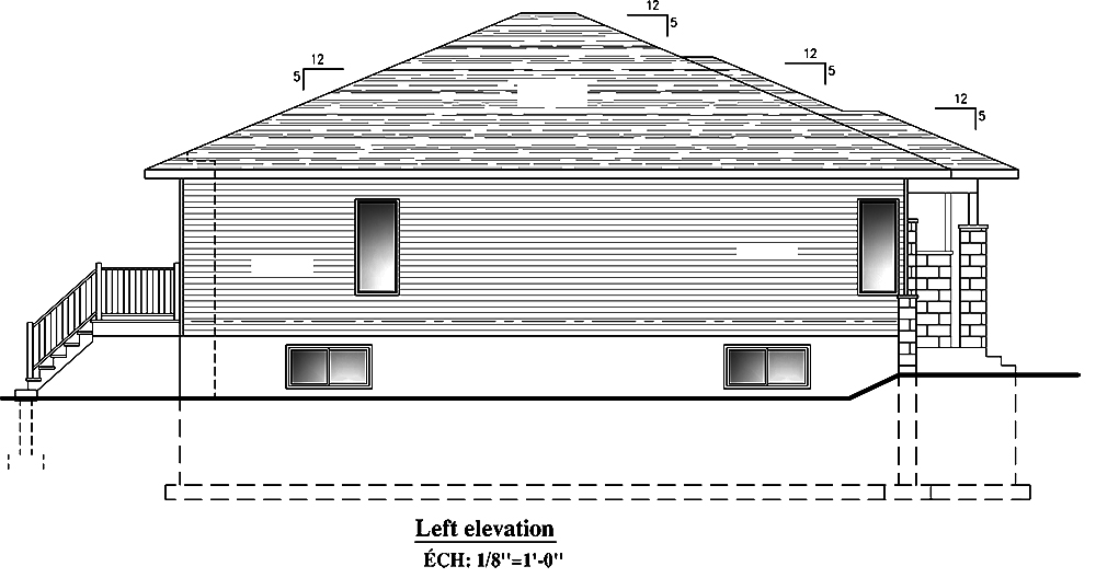2 Bedrm 1325 Sq Ft Bungalow House Plan 158 1300