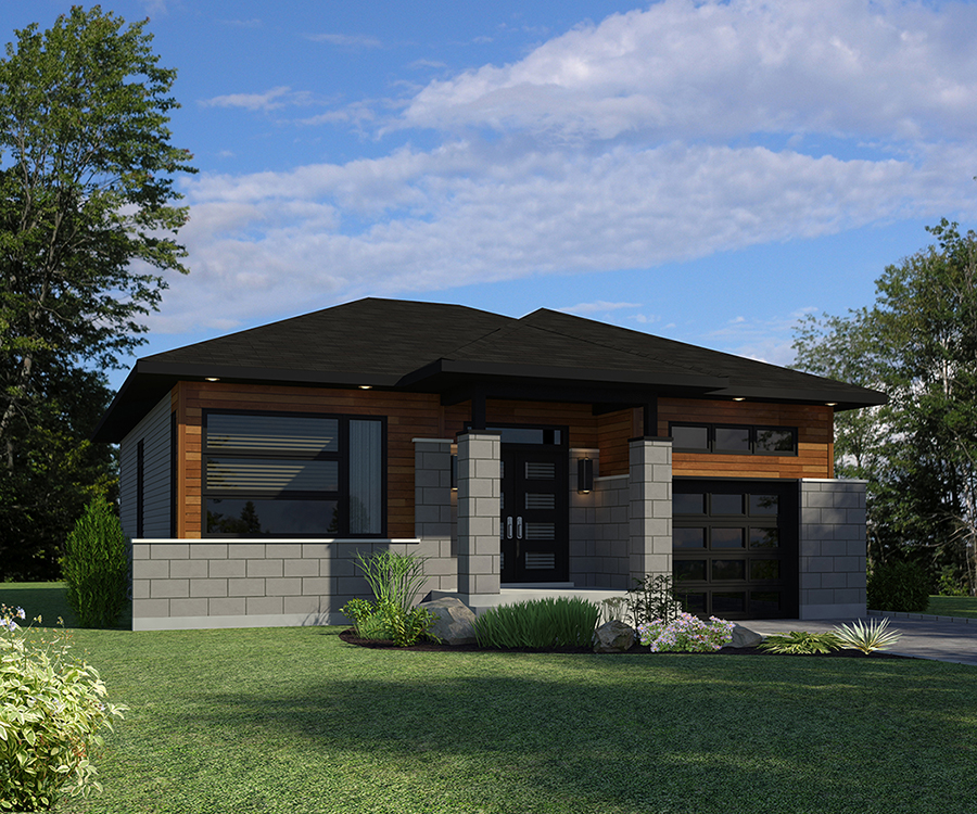 Home Plans: 2 Bedrm, 1325 Sq Ft Bungalow House Plan #158-1300