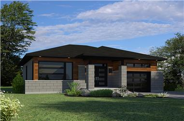 2-Bedroom, 1325 Sq Ft Bungalow House Plan - 158-1300 - Front Exterior