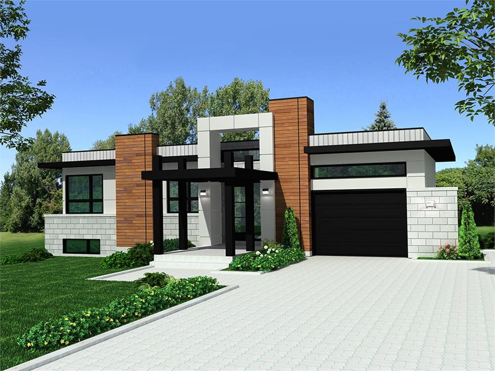 Modern home (ThePlanCollection: Plan #158-1303)