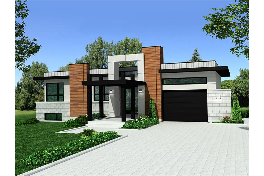 3-Bedroom, 1421 Sq Ft Bungalow Home Plan - 158-1303 - Main Exterior
