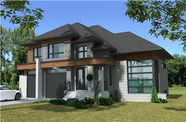 Front elevation of Cottage home (ThePlanCollection: House Plan #158-1305)