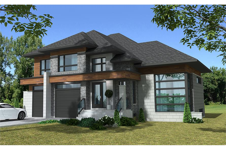 4-Bedroom, 3139 Sq Ft Cottage Home Plan - 158-1305 - Main Exterior