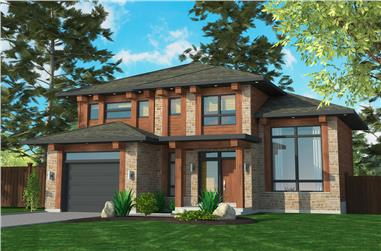 3-Bedroom, 1521 Sq Ft Cottage House Plan - 158-1307 - Front Exterior