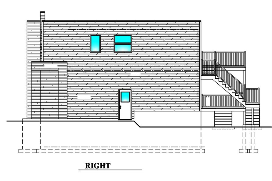 Home Plan Right Elevation of this 3-Bedroom,1932 Sq Ft Plan -158-1310