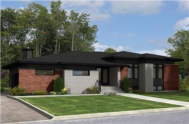3-Bedroom, 1284 Sq Ft Bungalow House Plan - 158-1311 - Front Exterior