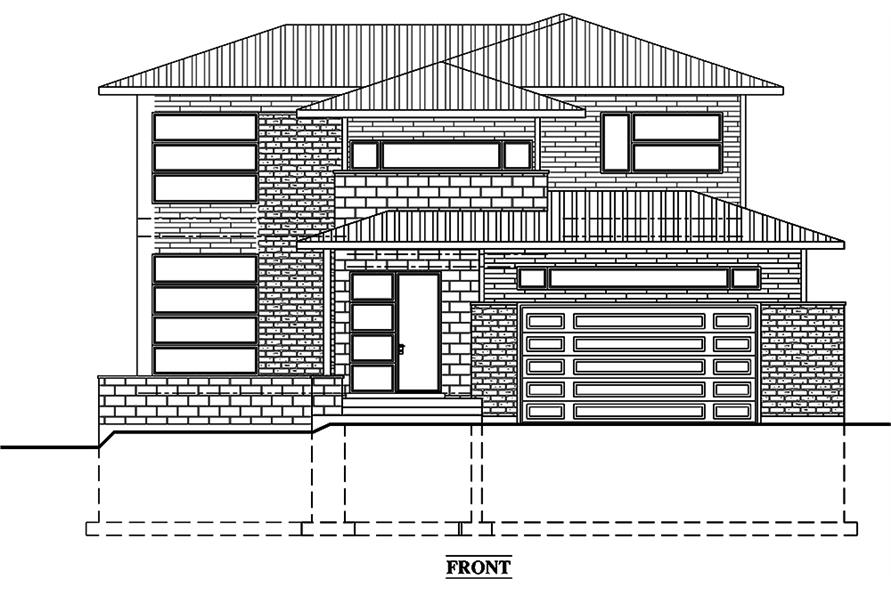 Home Plan Front Elevation of this 3-Bedroom,2181 Sq Ft Plan -158-1312