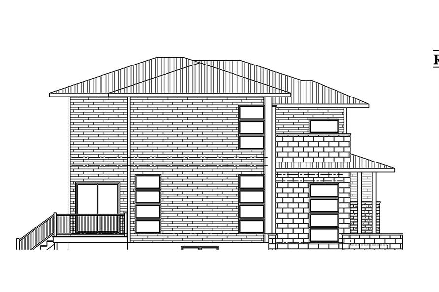 Home Plan Left Elevation of this 3-Bedroom,2181 Sq Ft Plan -158-1312