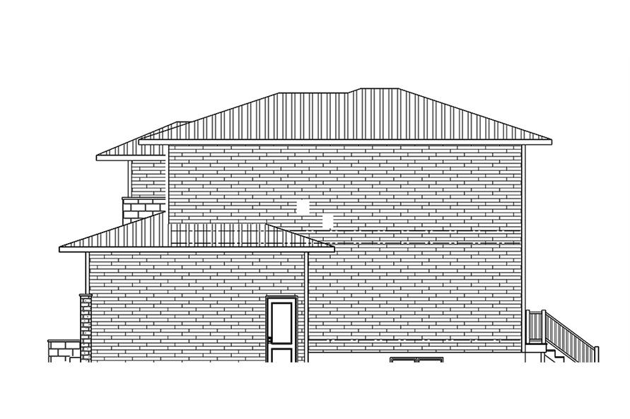 Home Plan Right Elevation of this 3-Bedroom,2181 Sq Ft Plan -158-1312