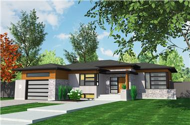 2-Bedroom, 1266 Sq Ft Bungalow House Plan - 158-1314 - Front Exterior