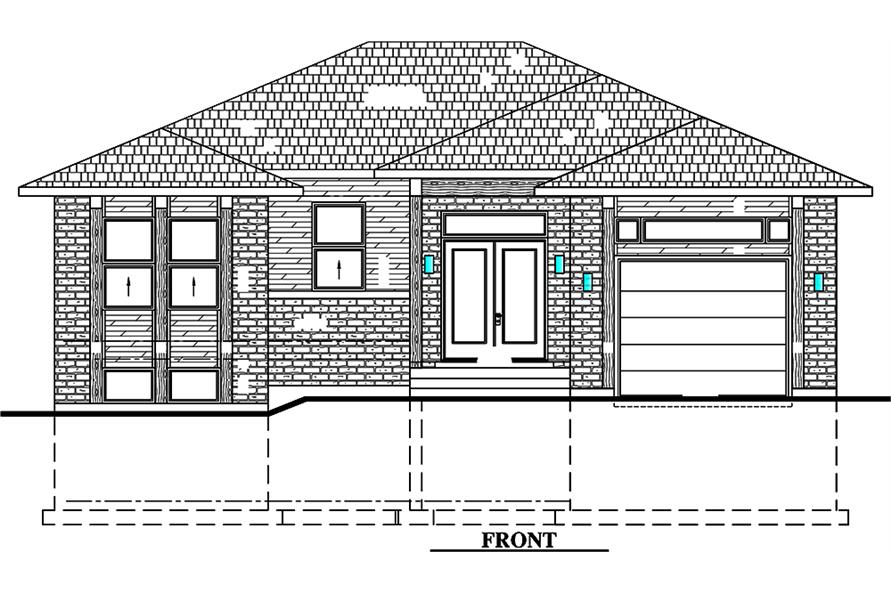 Home Plan Front Elevation of this 2-Bedroom,1351 Sq Ft Plan -158-1315