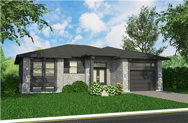 2-Bedroom, 1351 Sq Ft Bungalow Home Plan - 158-1315 - Main Exterior