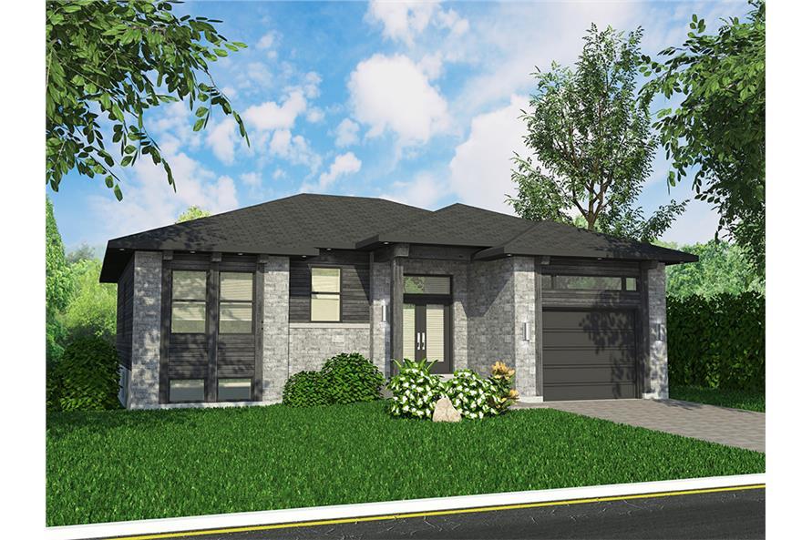 2-Bedroom, 1351 Sq Ft Bungalow Home Plan - 158-1315 - Main Exterior
