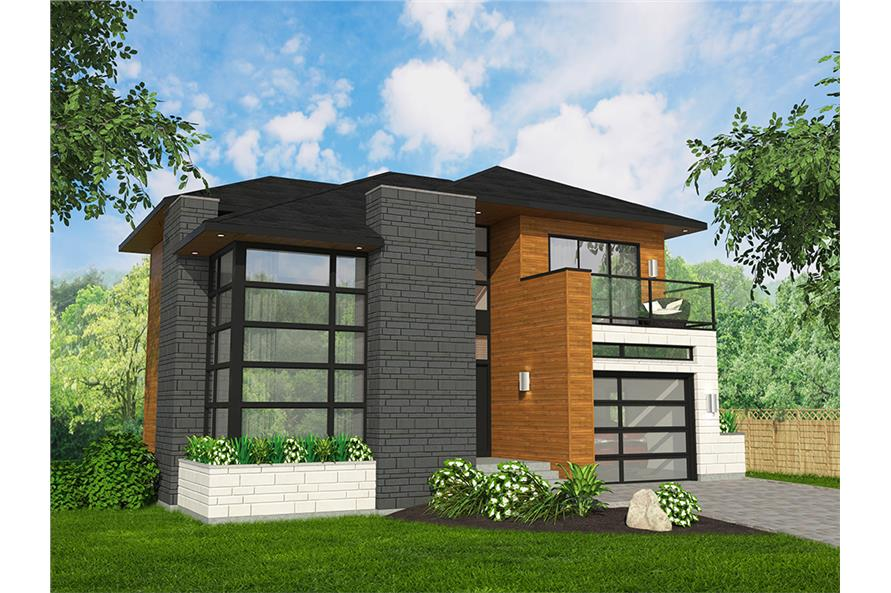 3-Bedroom, 1666 Sq Ft Cottage House Plan - 158-1316 - Front Exterior