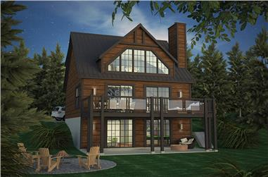5-Bedroom, 1228 Sq Ft Cottage House Plan - 158-1317 - Front Exterior