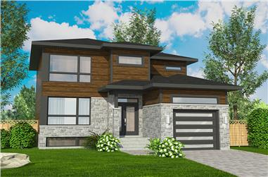 3-Bedroom, 1580 Sq Ft Cottage House Plan - 158-1318 - Front Exterior