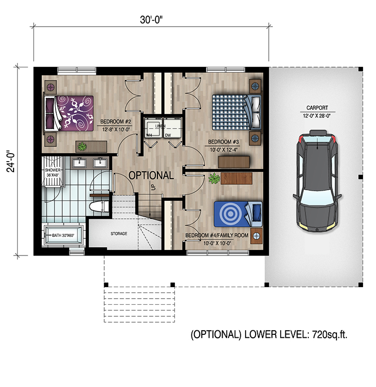 4 bedrm 720 sq ft bungalow house plan 158 1319 for 720 sq ft house plans