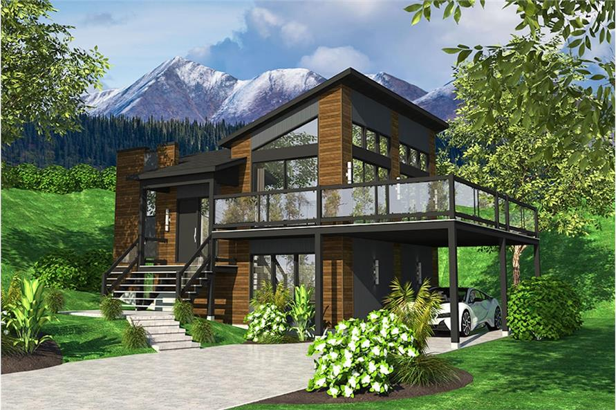 1-Bedroom, 720 Sq Ft Bungalow House Plan - 158-1319 - Front Exterior