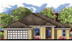 Front elevation for this Traditional Home Plan 159-1004.
